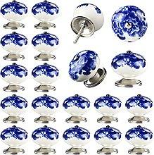 Set of 20 Handmade Ceramic Door Knobs for