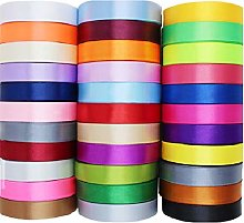 Set of 20 Rolls x 25 Yards / 23 Meters Of Satin
