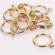 Set Of 24 Bright 28mm Brass Curtain Rings