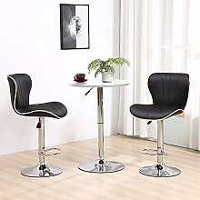 Set of 3 Adjustable Bar Table Set, Round Bar Table