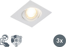 Set of 3 built-in spotlights incl. LED 3-step
