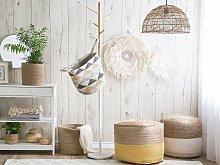 Set of 3 Jute Storage Baskets Laundry Bins Sand