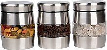 Set of 3 Kitchen Canister Container Tea Coffee