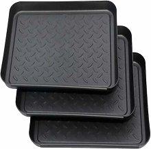 Set of 3 shoe rack, shoe drip tray made of
