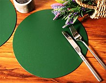 Set of 4 British Racing Green Elementary Round