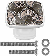 Set of 4 Cabinet Knobs Square Drawer Knobs,Drawer