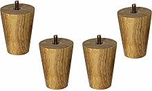 Set of 4 Conical Solid Wood Furniture