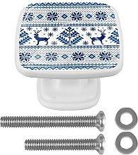 (Set of 4) Crystal Cabinet Knobs for Kitchen