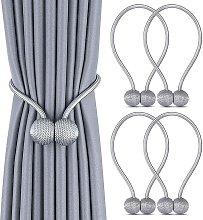 Set of 4 Curtain Tiebacks, Magnetic Curtain