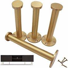 Set of 4 Furniture Legs Brass Table Legs Metal