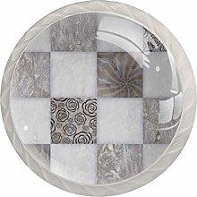 Set of 4 Glass Knobs | Color Design Cabinet Knobs