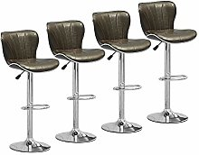 Set of 4 Glossy Bar Stools for Kitchens, PU