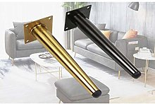 Set of 4 Golden/Black Furniture Cabinet Metal Legs