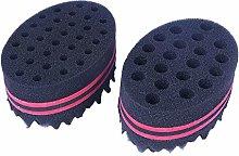 Set of 4 Hair Brush Sponge Twist Wave Barber Tool