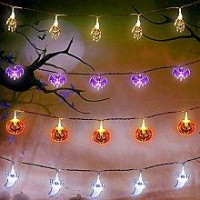 Set of 4 Halloween String Lights, 10 Feet 20 LEDs