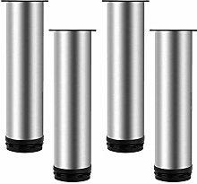 Set of 4 Metal Cabinet Legs,Stainless Steel