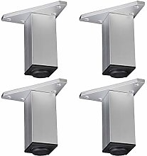 Set of 4 Metal Furniture Legs,Aluminium Plinth