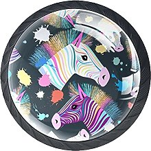 Set of 4 Mushroom Drawer Knobs Color Horse