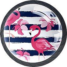 Set of 4 Mushroom Drawer Knobs Pink Flamingo