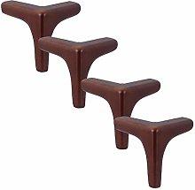 Set of 4 Oak Furniture Legs,Solid Wood Sofa Legs