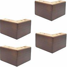 Set of 4 Pine Furniture Legs,Solid Wood Sofa Legs