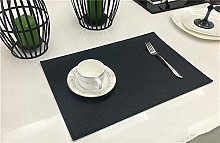 Set Of 4 Placemats PVC Leather Table Mats