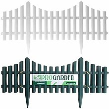 SET OF 4 PLASTIC WOODEN EFFECT LAWN BORDER EDGE