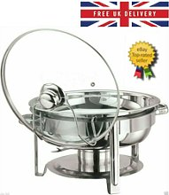Set Of 4 Round 4.5 Litre Chafing Dish Solid/buffet