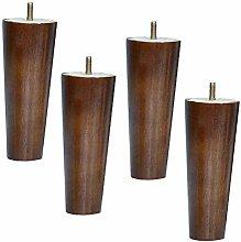 Set of 4 Sofa Feet, Solid Wood Furniture