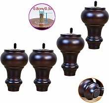 Set of 4 Solid Wood Furniture Legs,Cabinet