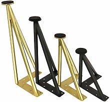Set of 4 Stainless Steel Furniture Feet Adjustable