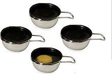 Set of 4 Stainless Steel Nonstick Egg Poacher