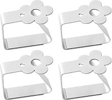 Set of 4 Stainless Steel Tablecloth Clips for