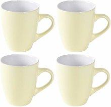 Set of 4 Stoneware Mugs Tea Coffee Bullet Mugs 340