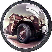 Set of 4 Vintage Car Cabinet Knobs Handles Pulls