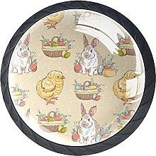 Set of 4 Vintage Easter Cabinet Knobs Handles