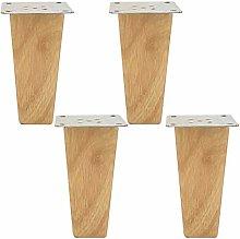 Set of 4 Wooden Furniture Legs,Oak Wood Sofa