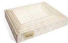 Set of 5 Woven Strap Paper Tidy Storage Basket -
