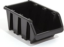 Set of 5 XL extra large black plastic storage bin
