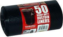 SET OF 50 HEAVY DUTY DUSTBIN LINERS BIN BAGS.