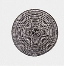 Set Of 6 Braided Round Placemat Coaster Table