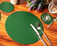 Set of 6 British Racing Green Elementary Round