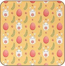 Set of 6 Cute Cartoon Rabbit & Egg Yellow Non-slip