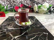 Set of 6 Designer Glass Turkish Arabic Tea Coffee
