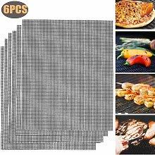 Set of 6 grill mats, grill mats, permanent baking