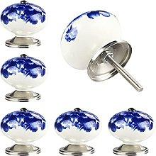 Set of 6 Handmade Ceramic Door Knobs for