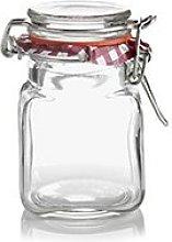 Set of 6 Kilner 70ml Clip Top Airtight Spice Herb