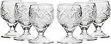Set of 6 Neman Glassworks, 50ml Hand Made Vintage