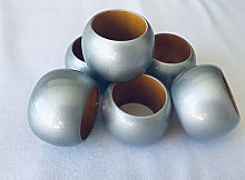 Set of 6 Silver Christmas Napkin Rings