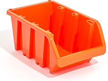 Set of 60 XL extra large orange plastic storage